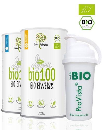 Bio100 Bio Eiweiss mit Shaker